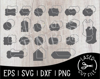 Framed Sign Shapes Laser SVG Cut File for Glowforge Epilog Projects Laser Cutting Download