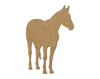 Horse Silhouette/Design 24/Unfinished wood cutout/DIY craft cutout/Multiple sized cutout/Wood craft shapes/craft wood cutouts/wood blanks