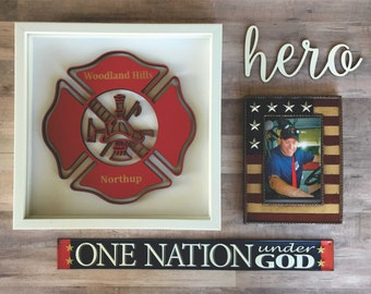 Maltese Badge, Fire Badge Cutout, First Responder Badge, Engraved Fire Badge, American Hero Gift, Firefighter Badge, Fire Station Gifts