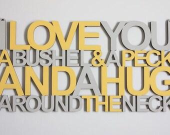 BUSHEL & A PECK - Unfinished Wood Sign