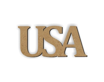 USA wood cutout/Wreath Embellishment/patriotic decor/Proud USA/Tribute/United States of America/class room decoration/4th of July decoration