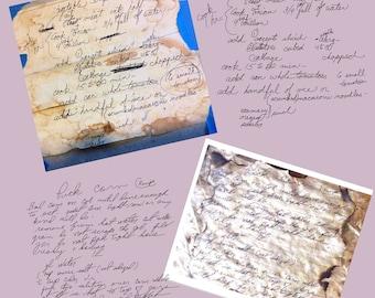 Handwriting Conversion SVG, Ready to Engrave, Old Recipe Restoration, Handwriting Digitizing, Handwritten Keepsake, Vector Conversion