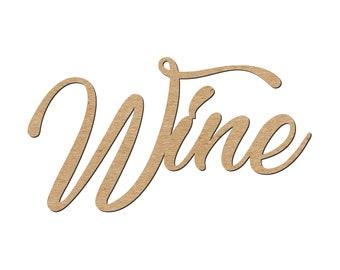 Wine wood cutout/Bar Decoration/Wine Bar/Open Bar decoration/Wine Party/Liquor decoration/Party signs