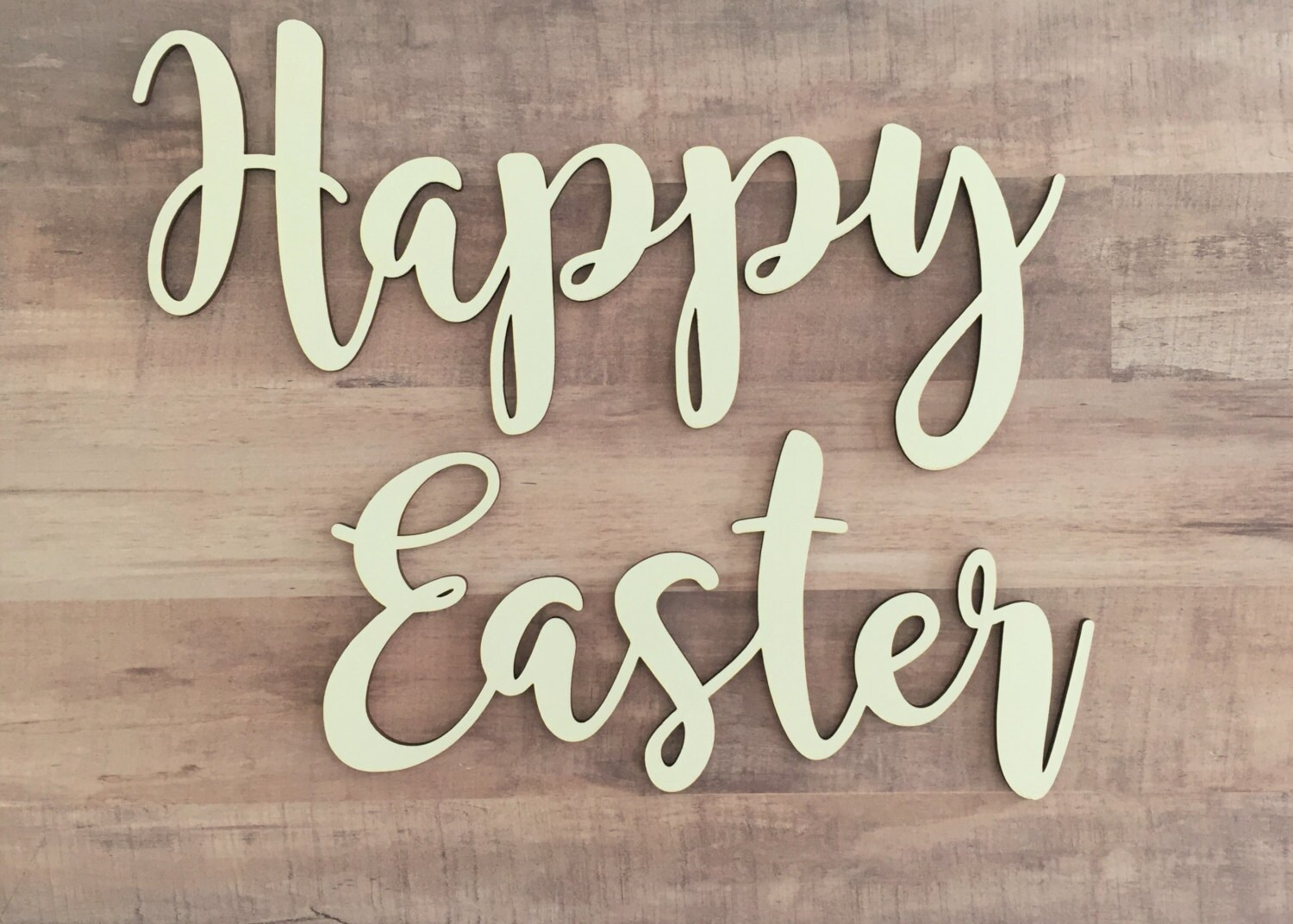 Happy Easter Cutout Easter Greetings Wood Easter Sign Etsy