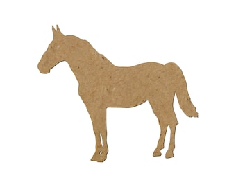 Horse Silhouette/Design 30/Unfinished wood cutout/DIY craft cutout/Multiple sized cutout/Wood craft shapes/craft wood cutouts/wood blanks