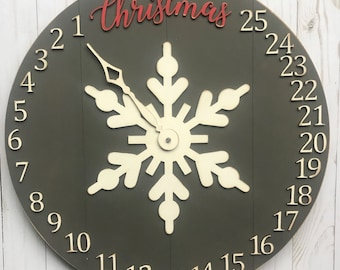 Christmas Countdown Clock Laser Cut File for Glowforge Epilog Projects Laser Cutting Download
