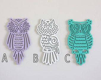 Owl Cutout, Craft Owl Cutouts, Owl decorations, Owl embellishment, owl party decor, Woodand creatutes, forest animal, Craft Owl cutouts