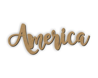 AMERICA wood cutout/Wreath Embellishment/patriotic decor/USA/Tribute/United States of America/class room decoration/4th of July decoration