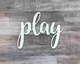 "Play Cutout - Laser Cut 1/8"""