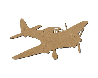 Airplane Silhouette/Design C/Unfinished wood cutout/DIY craft cutout/Multiple sized cutout/Wood craft shapes/craft wood cutouts/wood blanks