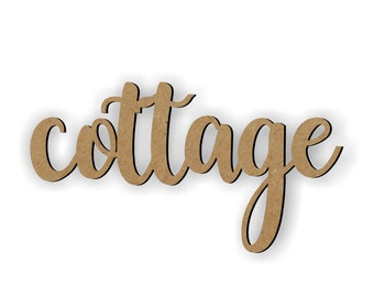 Cottage Cutout, Magnolia words, Farmhouse decor, Kitchen decor, Gallery Wall Ideas, Cute Home Decor, Country Wood Word, Handwritten Cottage