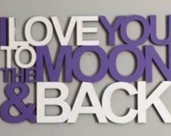 I Love You To The Moon and Back Connected Sign Laser Cut File for Glowforge Epilog Projects Laser Cutting Download