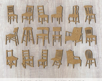 Chair Cutouts/Furniture Cutouts/Sign Making/Paint Swatches/Wreath Embellishments/Laser Cutouts/Wood Cutouts
