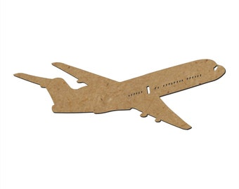Airplane Silhouette/Design G/Unfinished wood cutout/DIY craft cutout/Multiple sized cutout/Wood craft shapes/craft wood cutouts/wood blanks