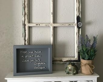 Handwritten Keepsake with Painted wood Frame,  Laser handwriting, keepsake treasures, keepsake gifts, children's keepsake, Heirloom gift