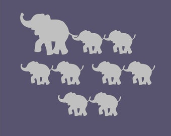Elephant Family, Momma and Baby Elephant, Elephant cutout, Nursery Decor, Elephant Decoration, Playroom decor, Wall Decoration, Wood Cutout