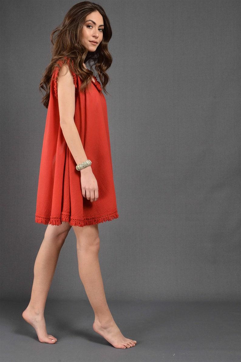 Lightweight One-Size Cotton Beach Wear for Women Poncho Summer Dress