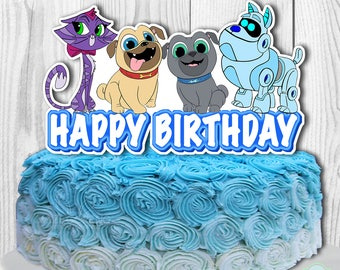 PUPPY DOG PALS Cake Topper Puppy Dog Pals Centerpiece Decoration Double Sided Digital File You Print