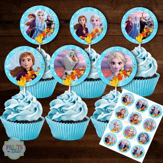 Printable Disney Frozen 2 Cupcake Toppers Disney Frozen 2 Etsy