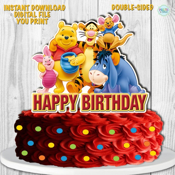 Winnie The Pooh Cake Topper My Friends Tigger And