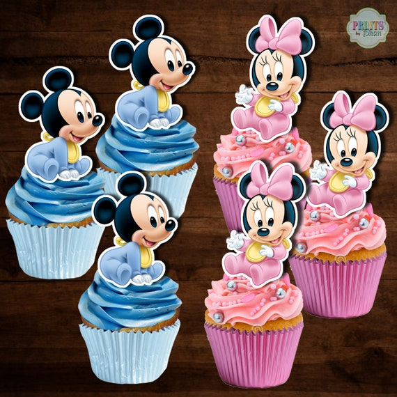 toddler birthday party. Mickey and Minnie mouse Minnie mouse cupcake picks mouse cocktail picks