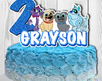 Puppy Dog Pals Cake Topper, Puppy Dog Pals Cake Decorations, Puppy Dog Pals Centerpiece, Personalized