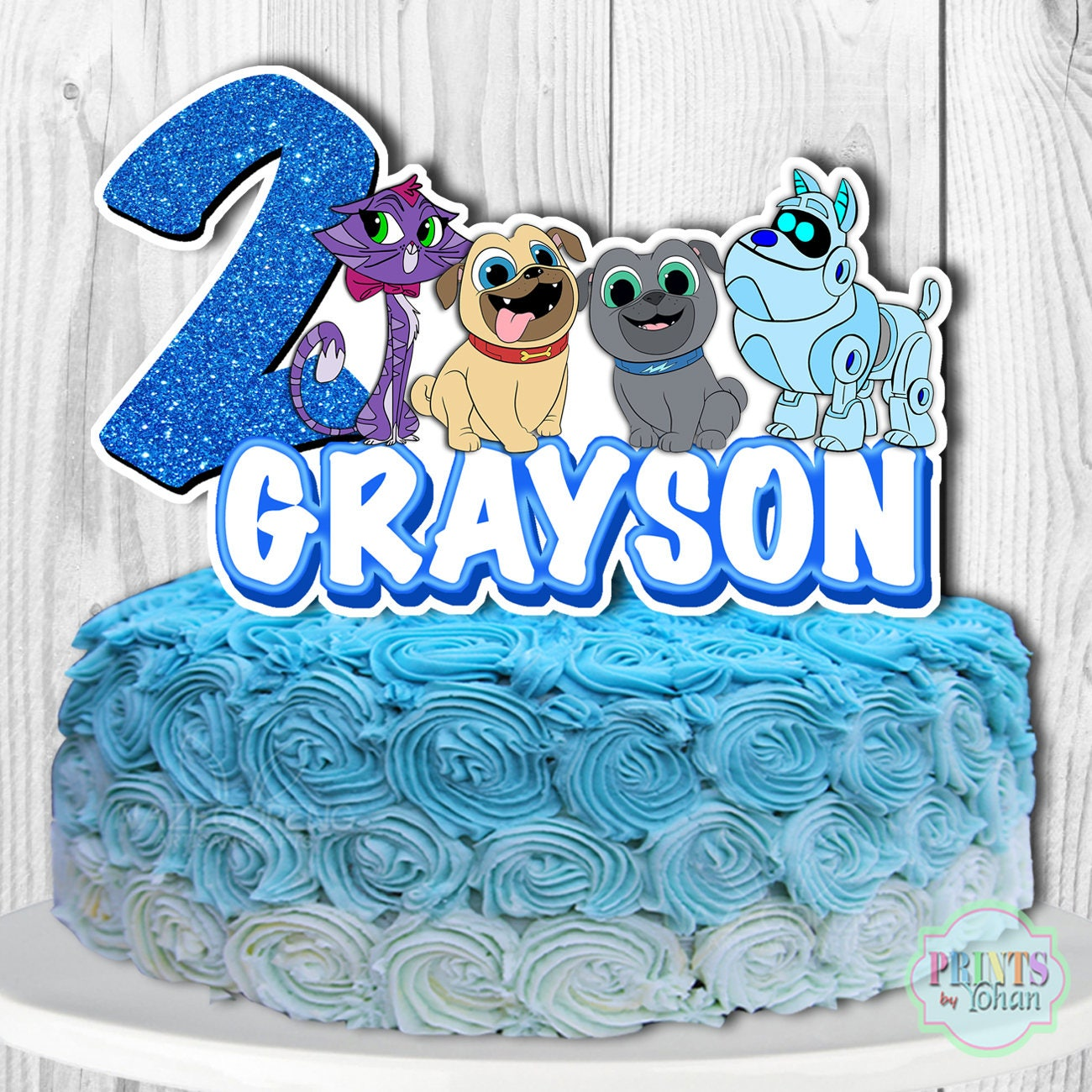 Puppy Dog Pals Cake Topper Puppy Dog Pals Cake Decorations ...