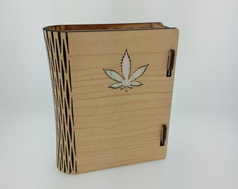 Custom Laser Engraved Large Locking Maple Wood Stash Box