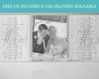 Wedding Vow Art • Wedding Vows Canvas • Anniversary Gift For Her Or For Him • Personalised Custom Gift
