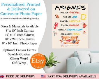 Friends Inspired Gift, Friends TV Show Print, The One With, The One Where, Friends Print, I'll Be There For You, Friends Personalised Gift