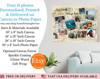 Gift For Travel Lover, Holiday Keepsake, Travelling Gifts, Personalised Map, Travelling Abroad Gift, Memories Timeline,