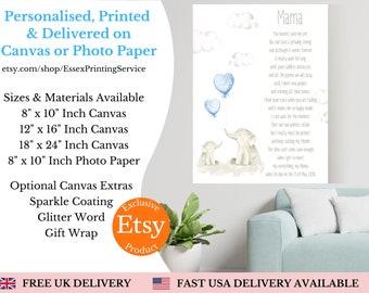 Personalised Mothers & Daughter gift, Mothers Day Gift, Mum Gift, Family Portrait, Gift for Mum, Mum Print, Mum Birthday gift