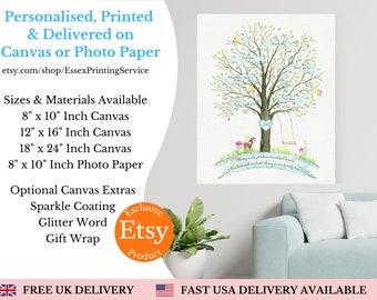 Personalised Family Name Print, Custom Family Keepsake, Unique Family Gift, Family Tree Collage, Family Tree Collage, Family Photo Collage