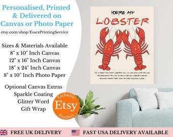 Gift for fan of friends tv show my lobster boyfriend quote keepsakes girlfriend birthday present
