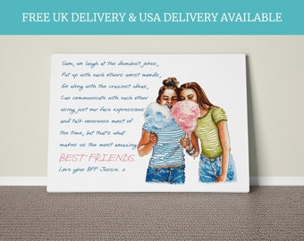 Personalised Best Friend Print - Best Friend Gift - Friendship Quote - Gifts for friends - Bestie Gifts