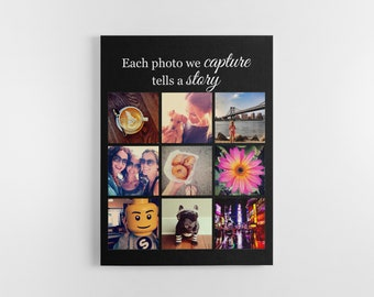 Instagram collage picture custom print handmade photos quote gift for friend boyfriend