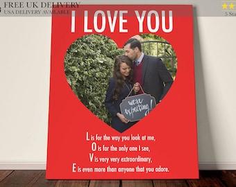 Personalised Heart Print - Custom Word Wall Frame - Wedding Keepsake Gifts - For Couples, Mr And Mrs, Bride, Groom