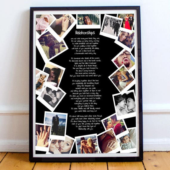 Personalised Gift For Girlfriend Photo Collage Boyfriend
