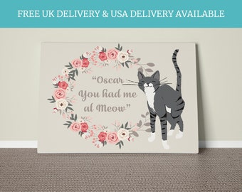 Personalised cat gift cat lover owner quote gift living room home keepsake