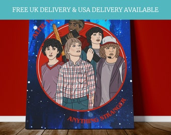 Stranger things season 3, Personalised stranger things art for bedroom decor. Unique and amazing Canvas Print or Photo print. Valentines day