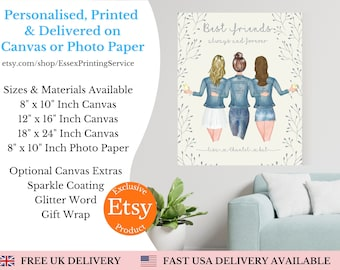 Best Friend Print | Best Friend Gift | Bestie Gifts | Friendship Quote | Personalised Print | Gift for Friend | Birthday Gift for Her