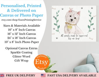 Personalised dog owner keepsake pet gifts valentines day gift from dog dogs house rules pet portraits