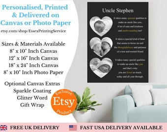 Personalised Auntie Print Canvas | Auntie Gift | Family gift | Family Quote Print | Family Gift| Canvas