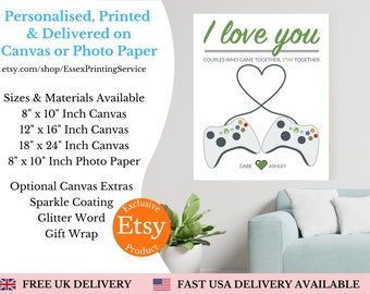 Personalised Xbox Gamer Gift | Gaming Birthday Gifts for the Ultimate Gamer | Personalised Canvas