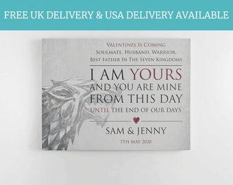 Fan Of Game of Thrones, GOT fan, Valentines Day, Stark, Anniversary Gift, Mother Of Dragons, boyfriend keepsake, anniversary girlfriend,