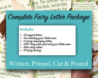 Fairy Letters complete package, from a fairy, Fairyland, Fairies for girls, fairies for boys, fairy activity, Gift From A Fairy, Fairy gift
