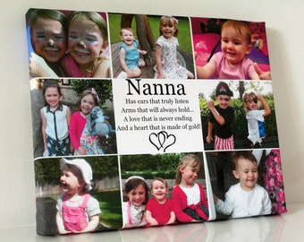 Personalised Collage Canvas / Custom Photo Canvas/ Montage Framed Canvas Print / Birthday Canvas / Anniversary Canvas