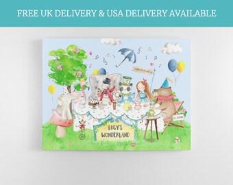 Alice and wonderland theme, fairytale nursery, childs bedroom, animal nursery print,