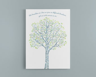 family tree, personalised family tree canvas, family tree picture, family tree gift-baby- family-grandparents-friends-family picture
