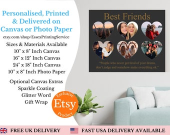 Personalised Gift Best Friend Gifts Best Friend Birthday Gifts for Her Best Friend Print Friendship Gift for Friends Sister Bestie gift